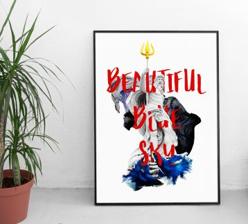 Beautiful Blue Sky | Poster