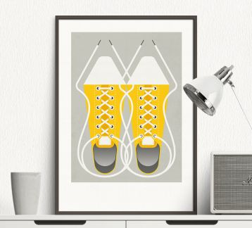 Shoes - Modern Art Poster