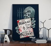 Zero Days - The Walking Dead - Saten Kumaş Poster
