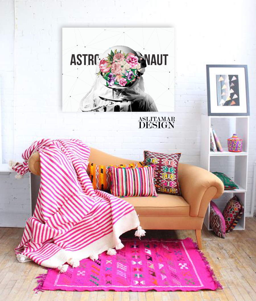 ASTRONAUT Canvas Tablo