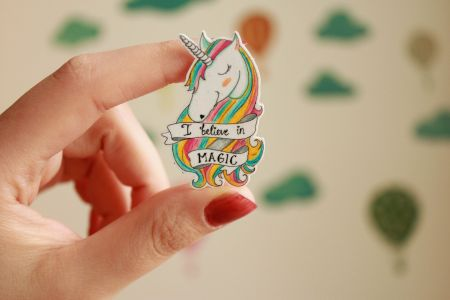 Unicorn Broş