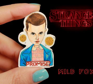 Eleven broş (Stranger Things)