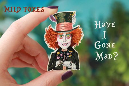 Mad Hatter Broş-Alice in Wonderland