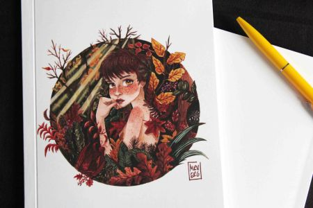 Autumn girl defter