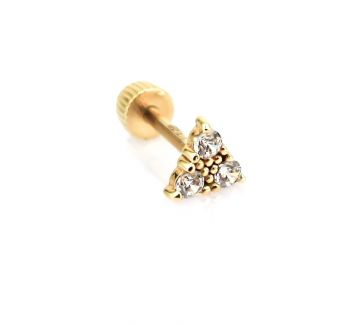 Triangle Gold Piercing