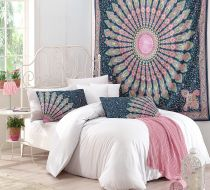 SHIKHARA  MANDALA TAPESTRY & PILLOW SET