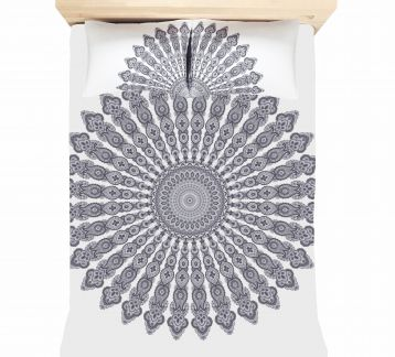 GRIS MANDALA TAPESTRY & PILLOW SET