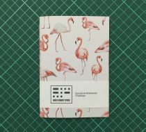 Handmade Notebook - Flamingo