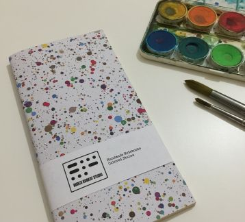 Handmade Notebook - Colored Stains