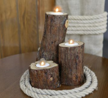 Lucky Wood Tealight Seti No:2