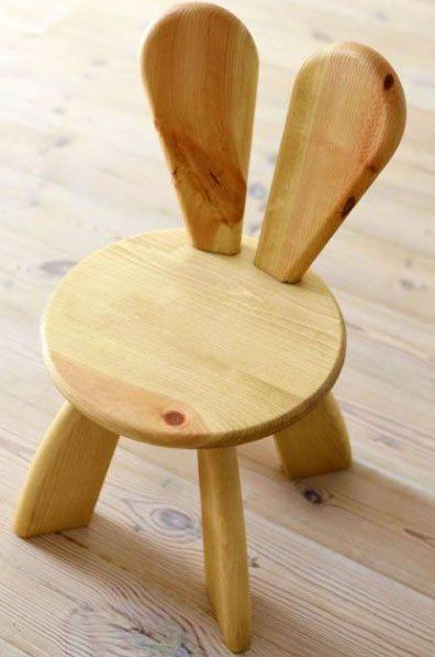 Lucky Wood Store Sharlok Rabbit Masif Çocuk Sandalyesi