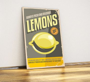 Lemon - Metal Poster