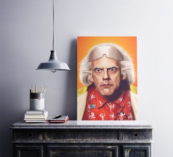 Dr. Emmett Lathrop Brown - Metal Poster