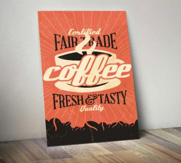 Coffee - Metal Poster