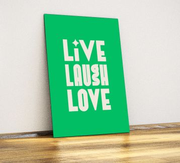 Live Laugh Love - Dekoratif Metal Poster