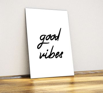 Good Vibes - Dekoratif Metal Poster