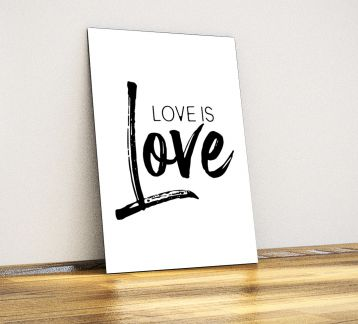 Love is love - Dekoratif Metal Poster