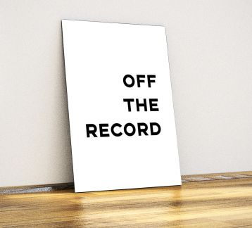 Off the Record - Dekoratif Metal Poster