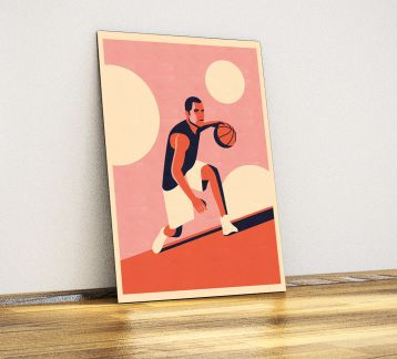 Basketbol - Dekoratif Metal Poster
