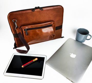 Misingpiece Askılı13 İnç Deri Macbook Organizer Tablet Ve La