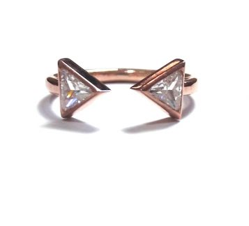 Open Ring-Hand Made Triangle Ring