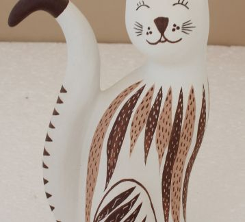 Terracotta Handmade Cat