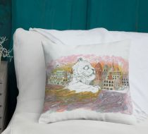 Mumu India and the Ganges Throw Pillow