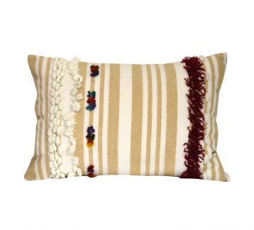 Embellishment Linen Cushion