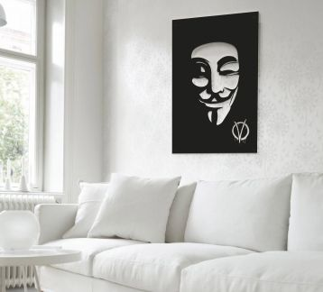 V for Vendetta Metal Poster