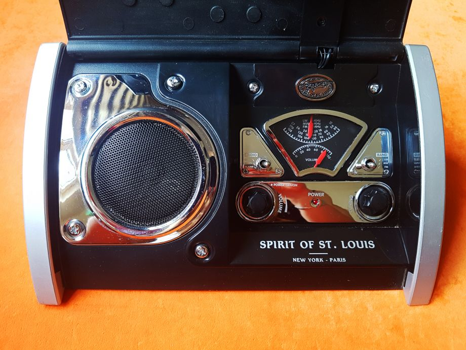 Spirit of St Louis Saat ve Radyo / Vintage