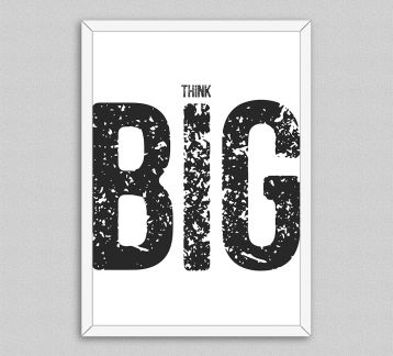 Big Think Çerçeveli Poster