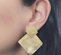 Juliet (Kare) Earrings - Gold
