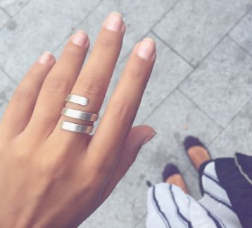 Lab Silver Ring