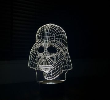 BY LAMP 3 Boyutlu Darth Vader Lamba