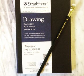 Strathmore Drawing Paper &  Palomino Pencil