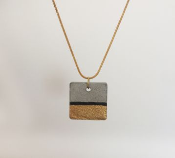 Square necklace -Beton kare kolye