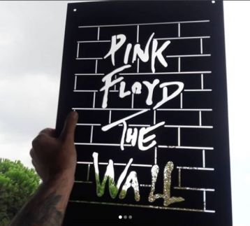 Pink Floyd / The Wall metal tablo