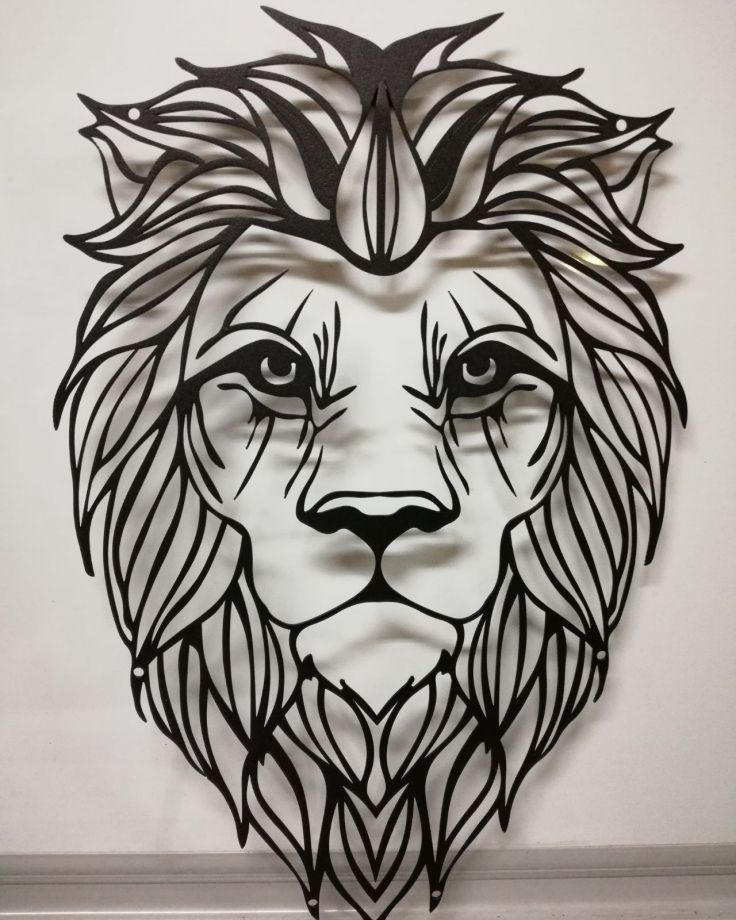 Aslan Metal Tablo Duvar Illustrasyon 455516 Zet Com