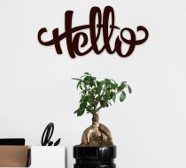 Hello Ahşap Poster
