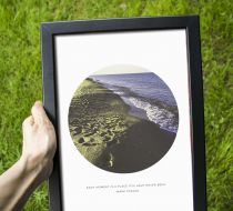 A4(210mm/297mm) 'Each Moment' Poster