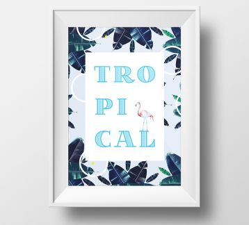 Tropical Excitement Poster