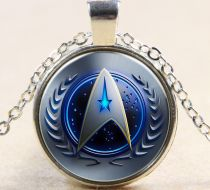 Star Trek Glass Time Gem Dome gümüş kolye