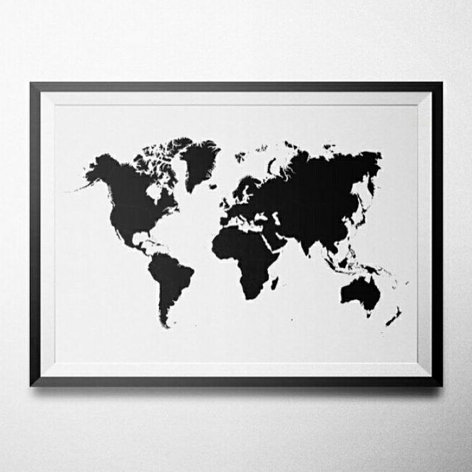 World Map - Çerçeveli Poster
