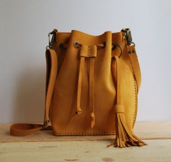 Sarı Bucket Bag - Atolye Circle