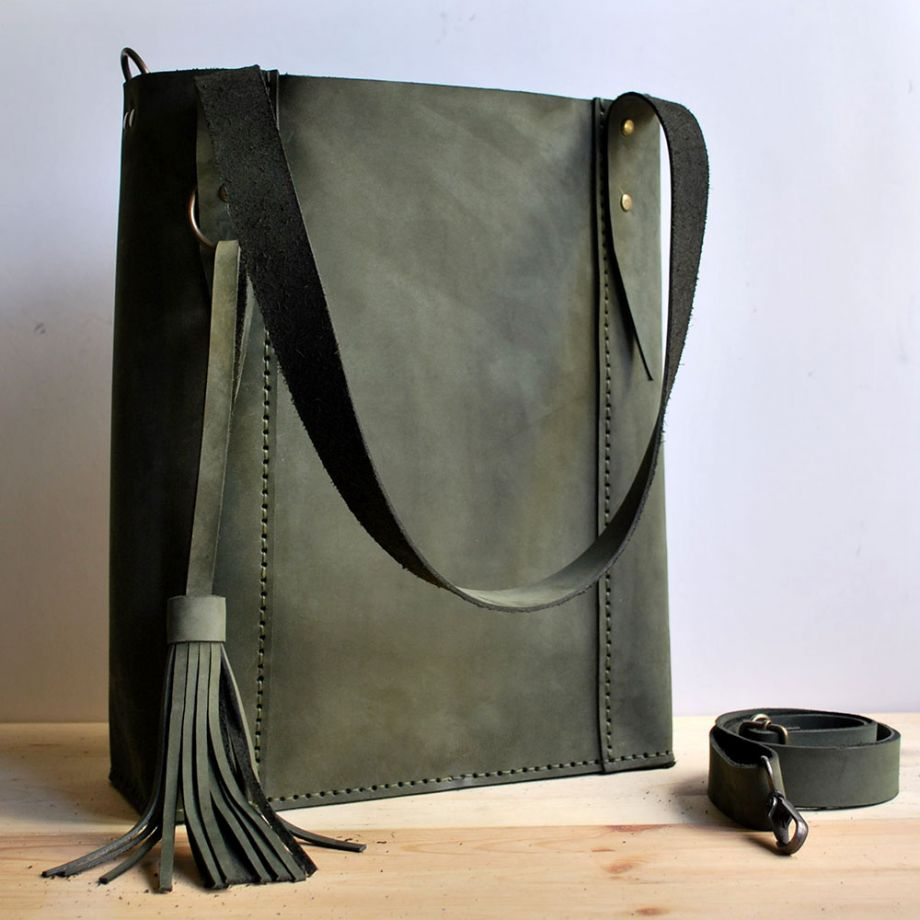 Circle Tote Bag-Haki Yeşili- Atolye Circle