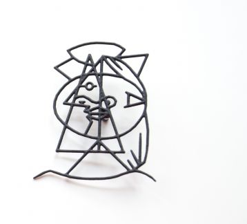 Picasso Brooch- Picasso Broş