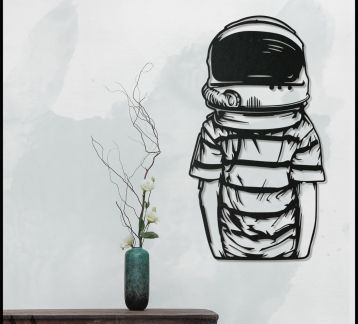 Astronot metal Tablo