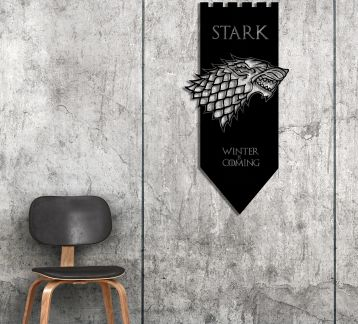 Game Of Thrones-STARK Metal Tablo