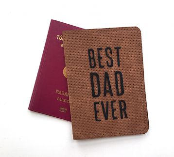 Best Dad Ever Pasaport Kılıfı