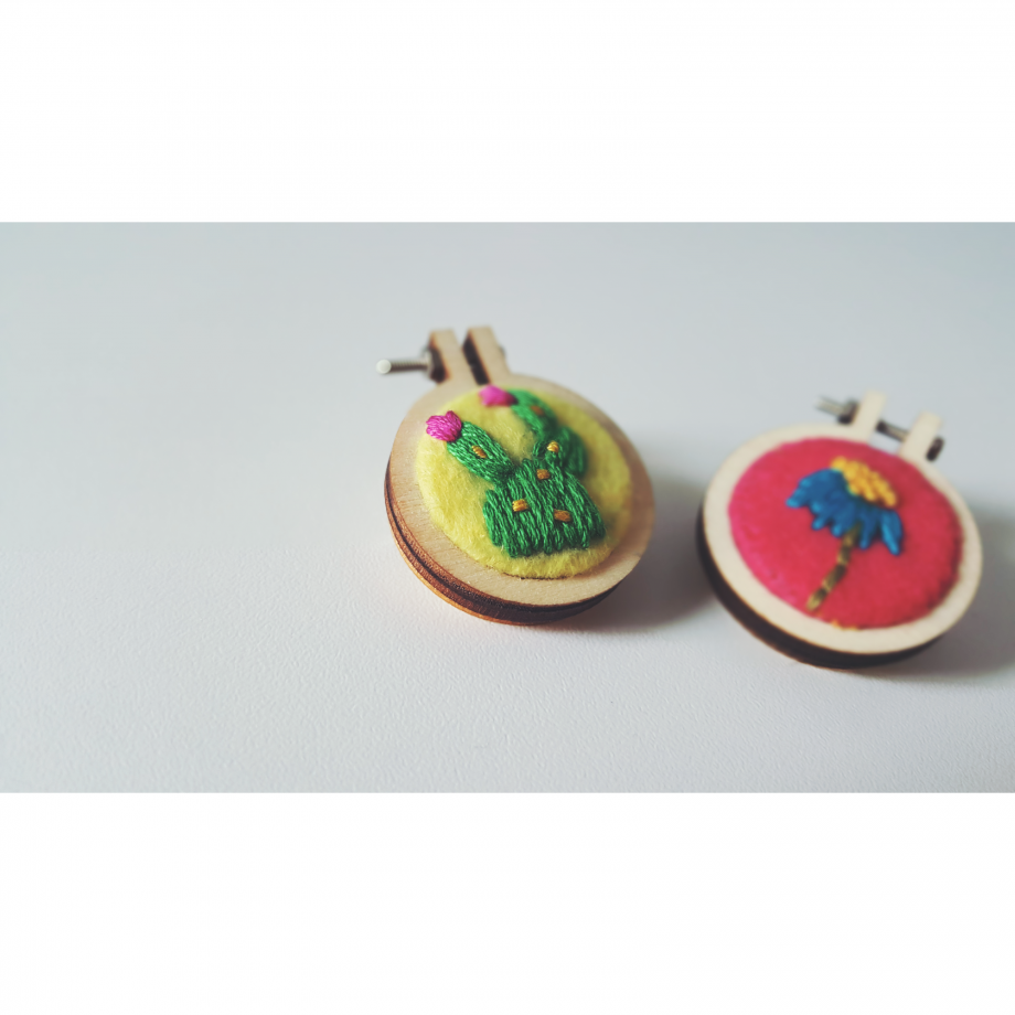 Embroidery Brooch